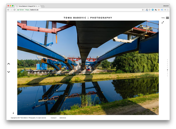 Homepage vom Bremer Fotograf Toma Babovic