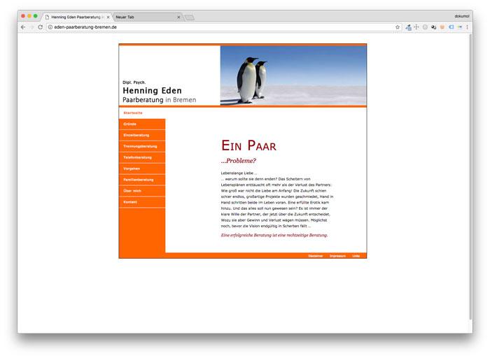 Homepage von Henning Eden Paarberatung in Bremen