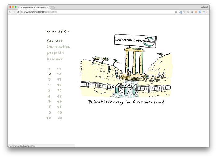Homepage von Miriam Wurster Cartoonistin