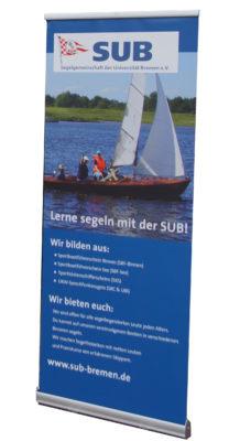 Rollup-Plakat für die SUB-Bremen
