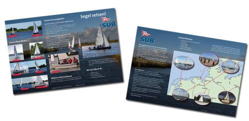 Flyer für den Segelverein SUB-Bremen