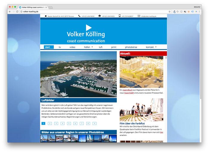 Homepage vom maritimen Journalist Volker Kölling