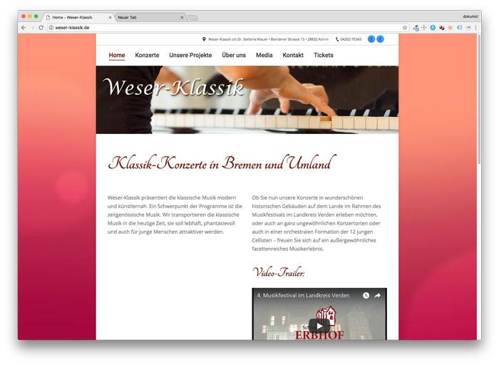 Homepage von Weser-Klassik