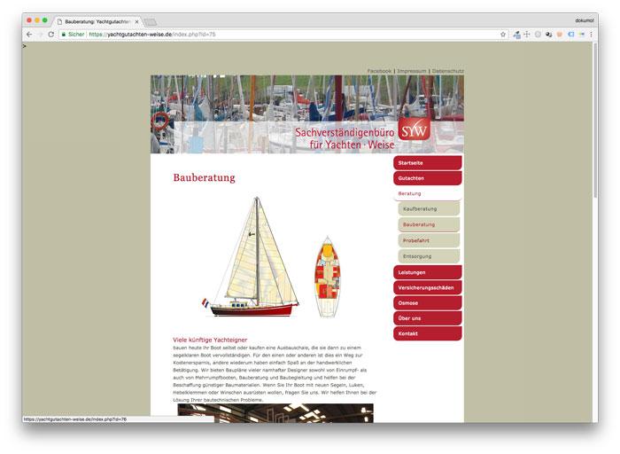 Homepage von Ralf Weise Yachtgutachten
