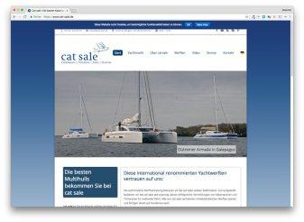 Homepage von cat sale, der Spezialist für Segelkatamarane