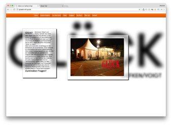 """Website zum Kunstprojekt """"Glück"""" von Tom Gefken und Oliver Voigt"""