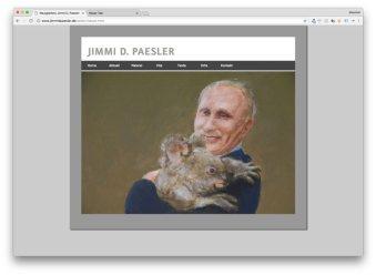 Wladimir Putin und sein Kuscheltier, gemalt von Jimmi D Paesler