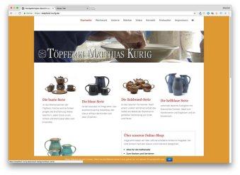 Homepage der Töpferei Matthias Kurig